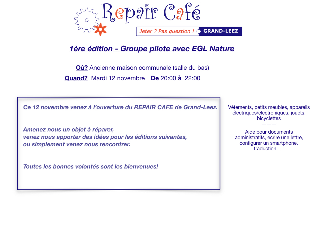 EGL 2019 11 Repair cafe 2019 11 12